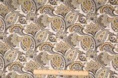 Kimberly-Cliffside in Rocky Coast Printed Linen Blend Drapery Fabric by Mill Creek $11.95 per yard