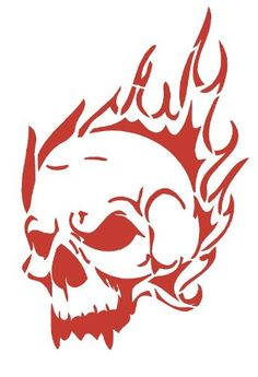 HIGH DETAIL Flaming Skull Airbrush Stencil - Free UK Postage - EUR High Detail Flaming Skull Pattern Airbrush Stencil - Solvent Proof Transparency FilmSize x Custom designs can be made, please contact me for details.Free Postage to the UK 312084845763 Free Stencils, Stencil Templates, Stencil Patterns, Stencil Designs, Skull Stencil, Skull Artwork, Desenho Tattoo, Airbrush Art, Scroll Saw Patterns