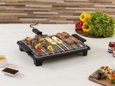 Churrasqueira Elétrica Anurb 1700W Inox - Platinum Grill Plus