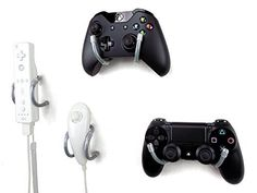 Wall Clip  Xbox PlayStation Wii and Retro Game Controller Organizer  4 Pack Gray by Laboratory 424 ** For more information, visit image link. Note:It is Affiliate Link to Amazon.