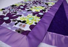 Purple & Violet Daisy Dots with Purple Minky Dot and by NotyBaby.  Love it