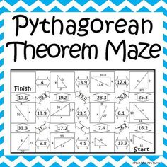 Pythagorean Theorem Maze from Amazing Mathematics on TeachersNotebook.com -  (2 pages)  - This self-checking maze has 11 problems involving the Pythagorean Theorem.