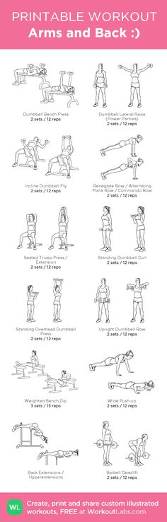 Arms and Back :): my custom printable workout by @WorkoutLabs #workoutlabs #customworkout