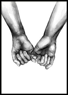 Watercolor Hands Poster in Group Poster / Sizes and .- Watercolor Hands Poster in der Gruppe Poster / Größen und Formate / Watercolor Hands Poster in Group Poster / Sizes and Formats / at Desenio AB - Black And White Posters, Black And White Canvas, Black And White Love, Black And White Prints, White Style, Wall Prints, Poster Prints, Canvas Prints, Buy Prints