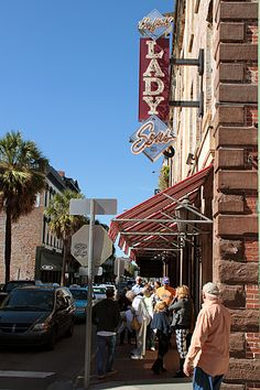 lady & sons - paula deen's in savannah, georgia. It is always lined out the door.