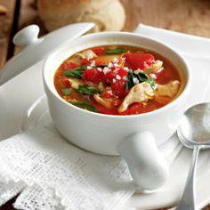 Supa de pui cu ardei copti
