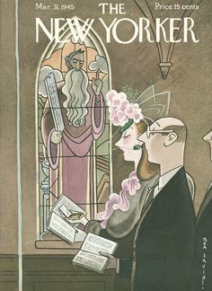 The New Yorker - Saturday, March 31, 1945 - Issue # 1050 - Vol. 21 - N° 7 - Cover by : Rea Irvin
