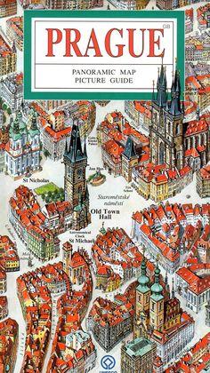 Colourful and Artistic Prague Map - LivingPrague Prague Tourist Map, Prague Map, Prague Travel Guide, Prague City, Visit Prague, Beautiful Places To Travel, Cool Places To Visit, Romantic Travel, Travel Directions