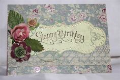 Magnolia grove number 5 - Helens Card Designs Pearl And Lace, Number 5, Vintage Roses, Card Designs, Magnolia, Card Making, Happy Birthday, Paper Crafts, Flowers