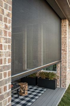 outdoor rooms Lowering the screen on the outdoor patio creates a true year-round outdoor living room with protection from the elements to make outdoor living a reality. New Homes, Outdoor Space, Screened In Porch, Outdoor Spaces, Outdoor Living Room, Outdoor Living, House With Porch, Building A Porch, Porch Design