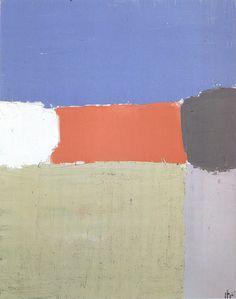 """Nicolas de Staël (b. 1914 - d. 1955, French), """"Landscape"""", (1952), Oil on Canvas."""