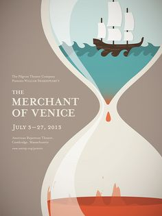 A poster for Shakespeare's The Merchant of Venice. A poster for Shakespeare's The Merchant of Venice. Flat Design Poster, Poster Designs, Play Poster, Gig Poster, Web Design, Flyer Design, Modern Design, The Merchant Of Venice, Poster Design Inspiration