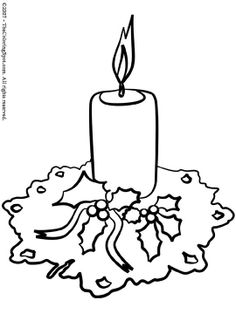 christmas candle coloring pages Free Coloring Pages and