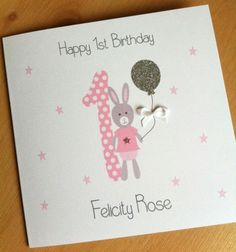 Handmade-Personalised-1st-Birthday-Card-Girls-First-Fast-Delivery