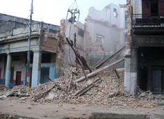 Derrumbe en calle habanera (foto de Internet)