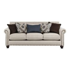 Hanson Living Room Collection Sofa In Beige | Jeromeu0027s Furniture