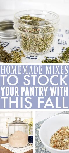 Homemade Mixes to Stock Your Pantry | The Creek Line House Southern Recipes, Southern Food, Bulk Food, Cleaners Homemade, Good Ole, Easy Food To Make, Jar Gifts, Spice Mixes, Mason Jar Diy
