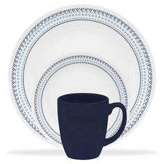 Corelle 1109604 Livingware Dinnerware Set Folk Sch Service For 4
