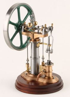 A scale model of a Benson vertical steam engine