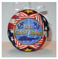 United States Coast Guard Ornament.   Go to www,craftcrazy4u.etsy.com to purchase.