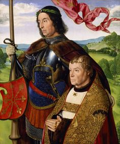 Jean Hey, Saint Maurice? and donor, c 1500-1505