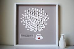 Wedding Guest Book Alternative- 3D Balloons car silhouette - SMALL - For up to 155 guests (includes frame, instruction card & pens)
