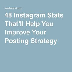 48 Instagram Stats That'll Help You Improve Your Posting Strategy