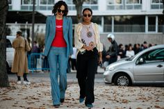 Everyone In Paris Is Wearing A Leather Beret #refinery29 http://www.refinery29.com/2017/09/174062/paris-fashion-week-street-style-spring-2018#slide-2