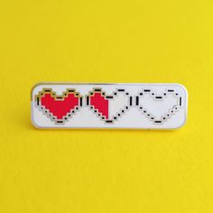 Heart Container Enamel Pin Badge - Zelda Pin - Geek Badge - Lapel Pin - Low on health? Feeling about halfway today? Rock this Zelda inspired heart container pin and channel Link on your way to victory.
