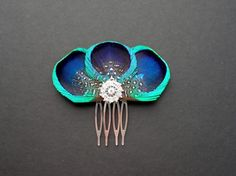 Peacock Feather Hair Comb Bridesmaids Hair by AFeatheredAffairUK, £12.99