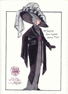 My Fair Lady (Mrs. Eynsford-Hill at Ascot). Costume design… My Fair Lady (Mrs. Eynsford-Hill at Ascot). Costume design by Gregory A Poplyk. Theatre Costumes, Movie Costumes, Character Costumes, Cool Costumes, Costumes For Women, Ballet Costumes, The Mask Costume, Costume Hats, My Fair Lady