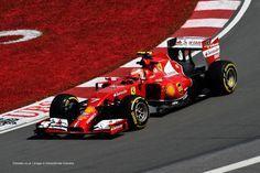 Kimi in P2 at Circuit Gilles Villeneuve in 2014 Canadian Grand Prix