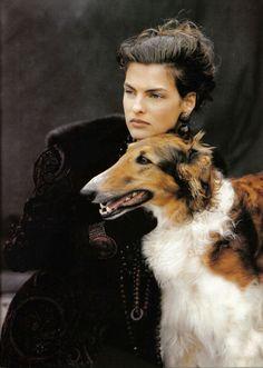 Guinevere I Vogue UK I August 1988 I Model: Linda Evangelista I Photographer: Peter Lindbergh.