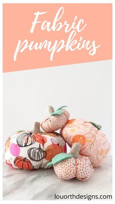A blog post all about this fun and simple make! These fabric pumpkins are the perfect Fall decor.#fabricpumpkin #sewingproject #beginnersewing #fallsewing #autumn