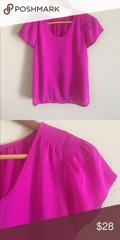 {ANN TAYLOR} BLOUSE Bright fuchsia top by Ann Taylor. This pretty pink blouse will brighten up any outfit! Ann Taylor Tops Blouses
