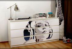 Customizar muebles de ikea con stickers
