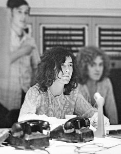 Jimmy Page during the recording of 'Whole Lotta Love' at A&M Studios in Los Angeles, May 1969. Photo by Dominique Tarlé