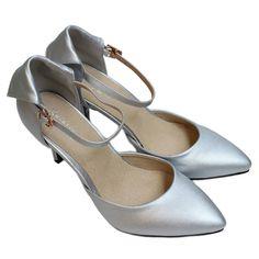 la mode femmes chaussures bride cheville escarpins talons aiguilles hauts bout pointu argent - Escarpin Argent Mariage