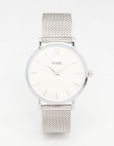 Cluse Minuit Silver Mesh Watch CL30009 - Silver by: Cluse @ASOS (US)