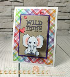 SSS Wild Cuddly Critters Action Wobble Card | Copic Markers