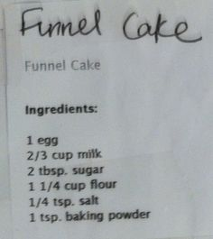 Best funnel cake recipe