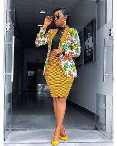African Print Blazer Jacket with Mini Skirt - Ankara Print - African Dress - Two Piece Outfit - Hand Short African Dresses, Latest African Fashion Dresses, African Print Fashion, Africa Fashion, Ghana Fashion, African Print Dresses, Ankara Mode, Ankara Stil, Ankara Dress Styles