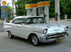 My first car inherited from my mom who hated it, 1957 Chevy