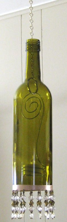 bottle lantern, could add some etching to the bottle... WineDeLights