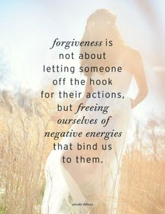 Absolutely! We don't have to forget, but we owe ourselves peace. Forgiving is moving forward and making progress.