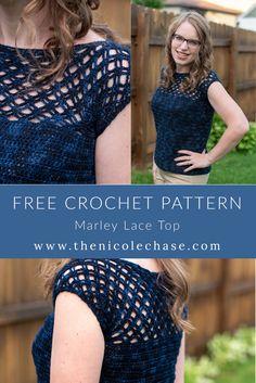 Crochet Marley, Ravelry, Crochet Summer Tops, Crochet Tops, Vogue Knitting, Crochet Woman, Crochet Blouse, Crochet Fashion, Crochet Clothes