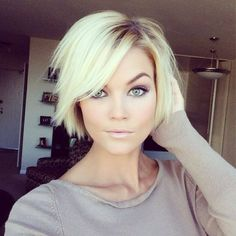 I love this cut! I may not have the same face shape as this girl but I would definitely get this haircut