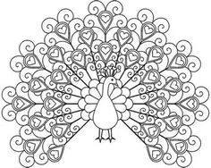 peacock coloring pages for adults to print printable coloring pages - Free Coloring Pages For Adults