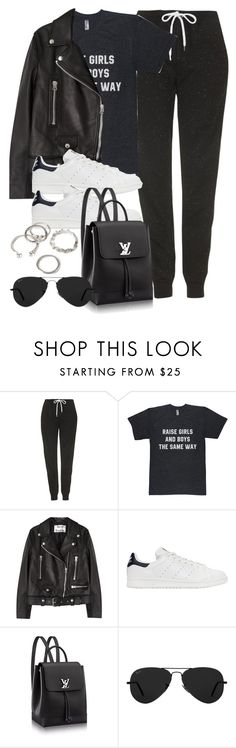"""Style #11580"" by vany-alvarado ❤ liked on Polyvore featuring Topshop, Acne Studios, adidas Originals, Ray-Ban and Forever 21"