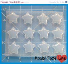 ON SALE Sheet of 12 Kawaii Stars Handmade by MoldedfromLove